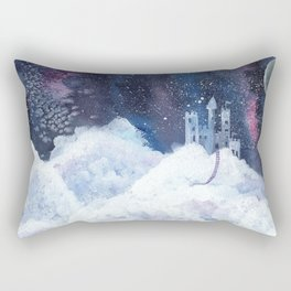 castle in the galaxy painting Rectangular Pillow