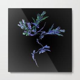 Winter Tree Fractal Metal Print