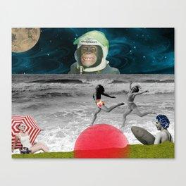 astronaut beach Canvas Print