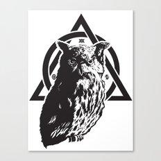 Owl & symbols Canvas Print