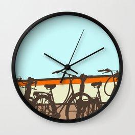 On your bike (Blue & Orange) Wall Clock