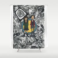 daria Shower Curtains featuring It's a Sick Sad World Daria by MyOwlHasAntlers
