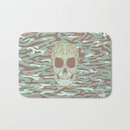 camouflage skull Bath Mat