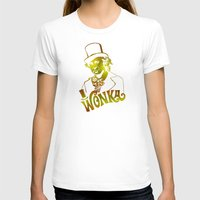 willy wonka T-shirts featuring W gold by Buby87