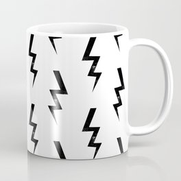 Bolts lightning bolt pattern black and white minimal cute patterned gifts Coffee Mug