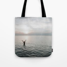 Sunset Embrace Tote Bag