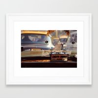 taxi driver Framed Art Prints featuring Taxi Driver by MundanalRuido