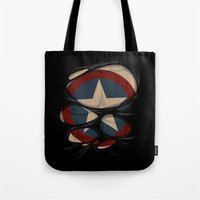captain swan Tote Bags featuring CAPTAIN by karakalemustadi