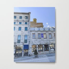 Photograph of Old Stone Buildings on a Clear Day in Old Port Montreal Metal Print