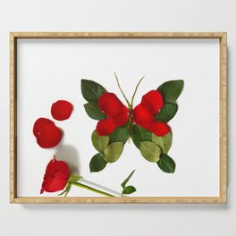 Butterfly-Rose Serving Tray