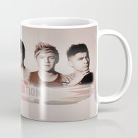 one direction Mugs featuring One Direction by store2u