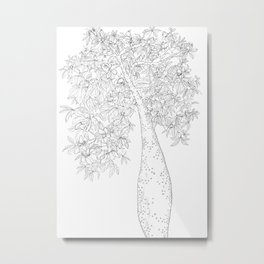 drawing of a tree called drunk stick Metal Print
