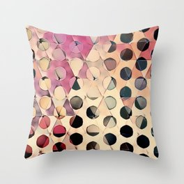 Circles on Triangles Antique 2 Throw Pillow