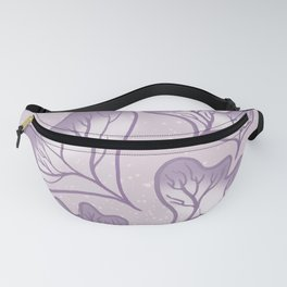 Take It Easy Purple Plants Fanny Pack