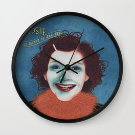 Shiny Rosie Wall Clock