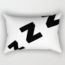 Zzzs in Black Rectangular Pillow