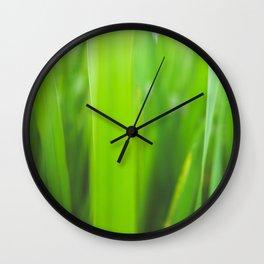 Summer is green Wall Clock