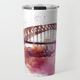 Sydney Harbor Bridge Watercolor Art Travel Mug