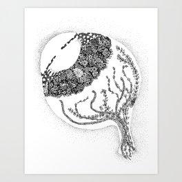 Anatomy Series: Eyeball Floweres Art Print