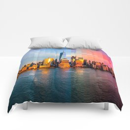 New York City Time Lapse! Comforters