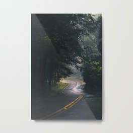 GREY - CONCRETE - ROAD - DAYLIGHT - JUNGLE - NATURE - PHOTOGRAPHY Metal Print