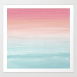 Touching Watercolor Abstract Beach Dream #1 #painting #decor #art #society6 Art Print