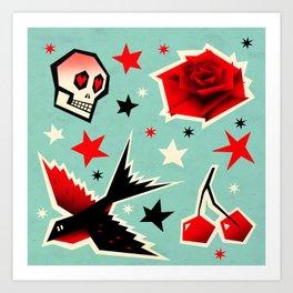 Swallow the cherry Art Print