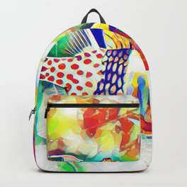 Rainbow Fish Art Backpack