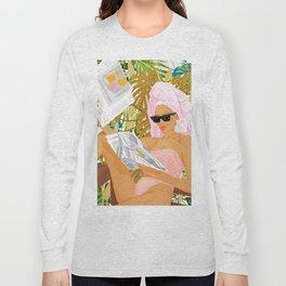 Vacay News #illustration #painting Long Sleeve T-shirt