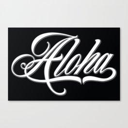 Aloha Script Canvas Print