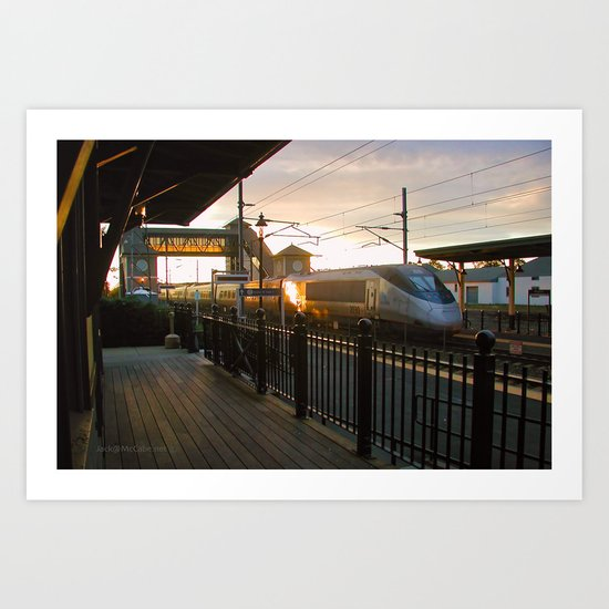 Acela Afternoon Flyby Kingston Railroad Station Art Print