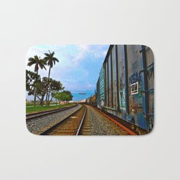 Planes, Trains, but no Automoblies Bath Mat