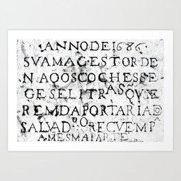 Stone Plate on a Street in Lisbon Art Print