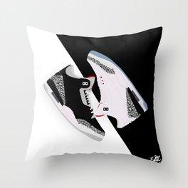 Air Jordan 3 Cement Throw Pillow