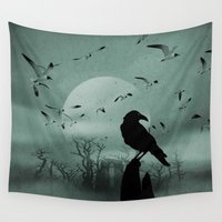 raven Wall Tapestries featuring Raven by Tony Vazquez