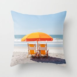 Folly Beach II Throw Pillow