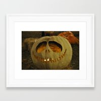 jack skellington Framed Art Prints featuring Jack Skellington by Kinseysmom