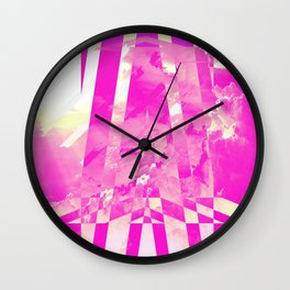 CLOUDS MINGLE WITH LINES 4 Wall Clock