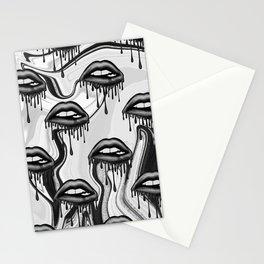 Black Lips Stationery Cards