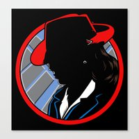 agent carter Canvas Prints featuring Agent Carter by offbeatzombie