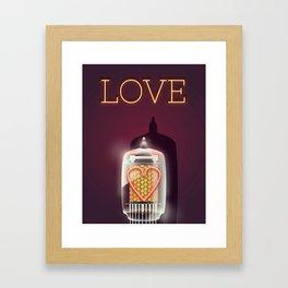 Nixie Tube Love Framed Art Print