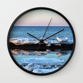 Ice Reflected Wall Clock