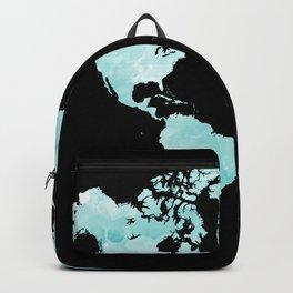 Design 72 world map aqua Backpack