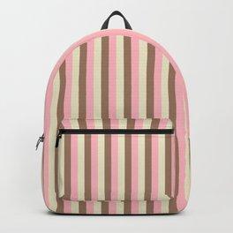 Striped Ice Cream Cone Chocolate Strawberry Vanilla Backpack