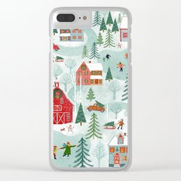 New England Christmas Clear iPhone Case
