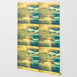Rainbow Blue Sky Clouds Wallpaper