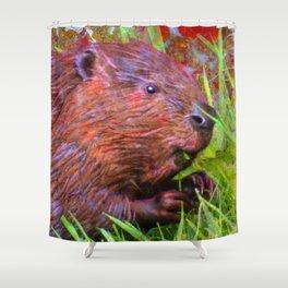 Golly Beaver! Shower Curtain