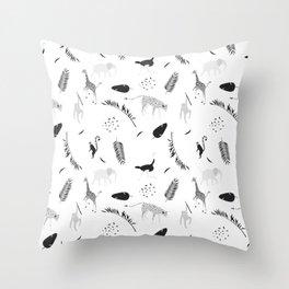 The Wild Jungle Pattern #1 Throw Pillow