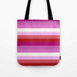 Lesbian Pride Flag v2 Tote Bag