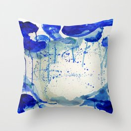 All blue everything Throw Pillow
